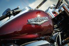 Logo of Harley Davidson motorcycles on a fuel tank Stock Photos