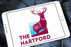 The Hartford insurance company logo. Logo of The Hartford company on samsung tablet. The Hartford is a United States based investment and insurance company Stock Image