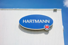 Logo of Hartmann AG, Heidenheim, Germany. Heidenheim, Germany - May 26, 2016: Logo of Hartmann AG, a german international operative company producing medical and royalty free stock image