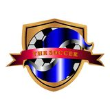THE SOCCER LOGO stock image