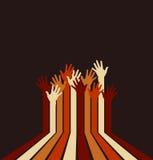 Logo haut coloré de mains Photos libres de droits