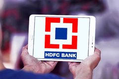 HDFC Bank logo Royalty Free Stock Images
