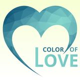Logo Heart Geometic stock illustrationer