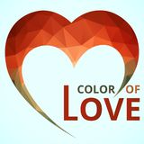 Logo Heart Geometic vector illustration