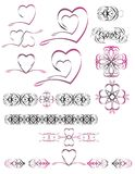 Logo hearts Stock Photos