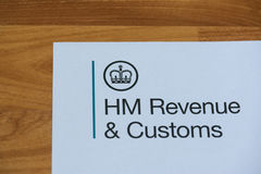 The logo of Her Majestys Revneue and Customs. London, United Kingdom, June 28, 2017:  The logo of Her Majestys Revneue and Customs on a piece of paper. HMRC is a Royalty Free Stock Photos