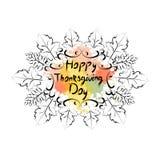 Logo heureux d'Autumn Traditional Holiday Greeting Card de jour de thanksgiving Photo stock