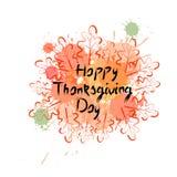 Logo heureux d'Autumn Traditional Holiday Greeting Card de jour de thanksgiving Image stock