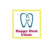 Logo heureux de clinique de bosselure Images stock