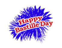 Logo heureux de graphique de jour de bastille Image libre de droits