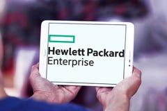 Hewlett Packard Enterprise Company logo. Logo of Hewlett Packard Enterprise Company on samsung tablet . it is an American multinational enterprise information Stock Photo