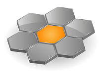 Logo hexagons Stock Photography