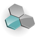 Logo hexagons Stock Image