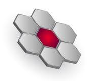 Logo hexagons flower Royalty Free Stock Image