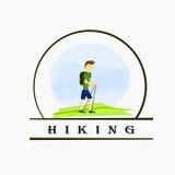 Logo hike Stock Image