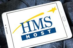 HMSHost food service company logo Royalty Free Stock Photo