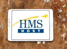 HMSHost food service company logo Stock Photo