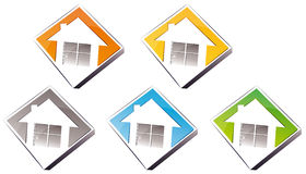 Logo - home. Vector illustration shows the logo of a house Royalty Free Stock Photography