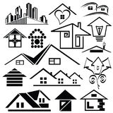 Logo homes. Set1. Royalty Free Stock Photos