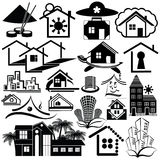 Logo homes. Set2. Stock Photos