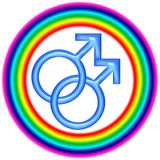 Logo homosexuel de circulaire d'amour Photo stock