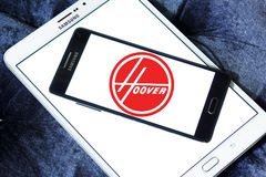 The Hoover Company logo. Logo of The Hoover Company on samsung mobile. Hoover is an American vacuum cleaner company that started out as an American floor care stock photo