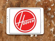 The Hoover Company logo. Logo of The Hoover Company on samsung tablet. Hoover is an American vacuum cleaner company that started out as an American floor care stock photography
