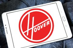 The Hoover Company logo. Logo of The Hoover Company on samsung tablet. Hoover is an American vacuum cleaner company that started out as an American floor care royalty free stock image