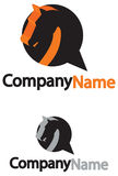 Logo with a horse Stock Photo
