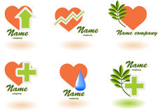 Logo_hospital_1. Set of vector symbols on  medicine Royalty Free Stock Photography