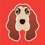 Logo Hound dog Royalty Free Stock Photography