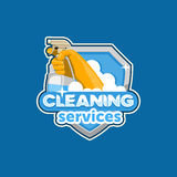 Logo house cleaning Royalty Free Stock Image