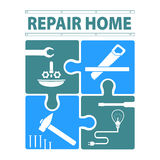 Logo house remodel service Stock Images
