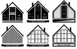 The logo of the house.Vector illustration emblem. Modern Stock Image