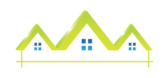 Logo Houses icon Stock Photography