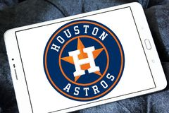 Houston Astros baseball team logo. Logo of Houston Astros baseball team on samsung tablet. The Houston Astros are an American professional baseball team based in Royalty Free Stock Images