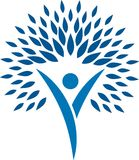 Logo Human Fantasy stock illustratie