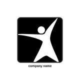 Logo with human profile Royalty Free Stock Image