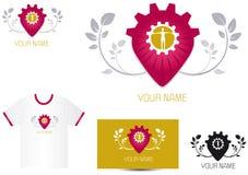 Logo human resources. Logo human relation ship, human ressources, Heart relation Stock Photo