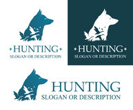 Logo of Hunting dog Royalty Free Stock Images