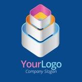 Logo i graficzny projekt Obrazy Stock
