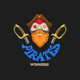 Logo, icône, pour des e-ports et l'industrie de jeu Photographie stock libre de droits