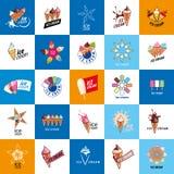 Logo ice cream Stock Photography
