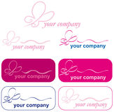 LOGO ICON  with butterfly Stock Photography