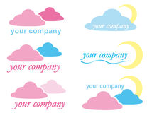 LOGO ICON  with clouds Stock Photos