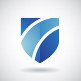 Logo Icon d'une illustration rayée de vecteur de bouclier Photo libre de droits