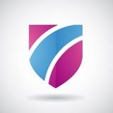 Logo Icon d'une illustration rayée de vecteur de bouclier Image stock