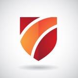 Logo Icon d'une illustration rayée de vecteur de bouclier Images stock