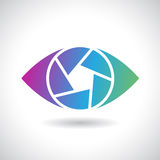 Logo Icon de un ejemplo del vector del ojo del obturador Fotos de archivo libres de regalías