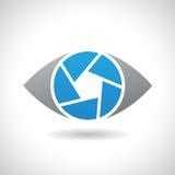 Logo Icon de un ejemplo del vector del ojo del obturador ilustración del vector